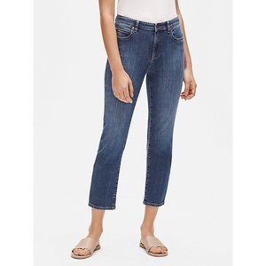 Eileen Fisher Organic Cotton Straight Ankle Jeans